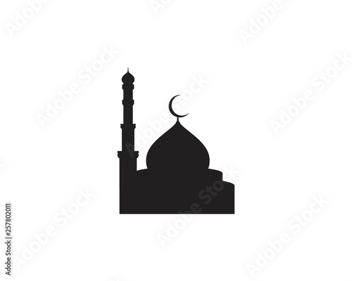 Foto Mosque Moslem icon vector Illustration