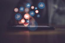 Young Man Using Smart Phone,Social Media Concept.