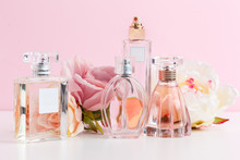 Bottle Of Perfume With Flowers...