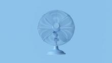 Pale Blue Office Desk Cooling Fan 3d Illustration 3d Render