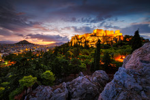 Acropolis And View Of Athens F...