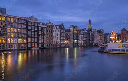 Poster Ligurie amsterdam at night