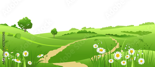 Outdoor landscape isolated