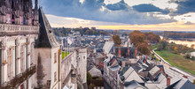 Panoramic Cityscape Of Amboise Old Town