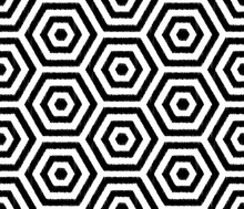 Seamless Black And White Hexag...