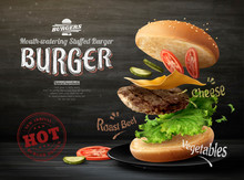 Hamburger Ads Design