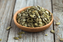Pumpkin Seeds With Copy Space ...