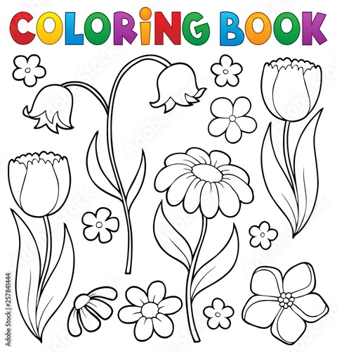 Printed kitchen splashbacks For Kids Coloring book flower topic 9