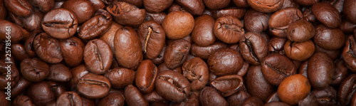 Stickers pour portes Café en grains Roasted coffee beans, can be used as a background