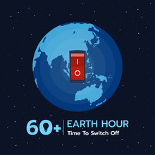 Earth Hour Banner With  Switch...