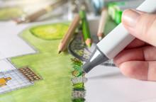 Zeichnen Eines Gartenplans, En...