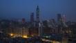 Taiwan Taipei City skyline and Taipei 101 building - night to day time lapse