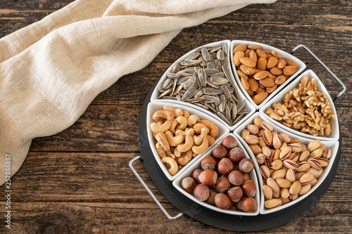 Many types of nuts  - Buy this stock photo and explore