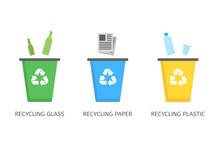 Recycle Bins For Plastic, Pape...