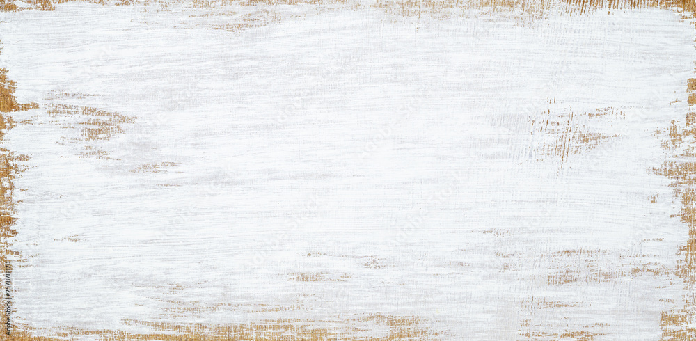 Fototapety, obrazy: White painted wood texture seamless rusty grunge background, Scratched white paint on planks of wood wall.