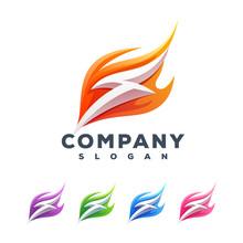 Thunder Flame Logo Design