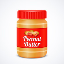 Jar Of Peanut Butter Isolated ...