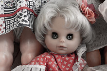 Female Doll Face With Creepy Eyes