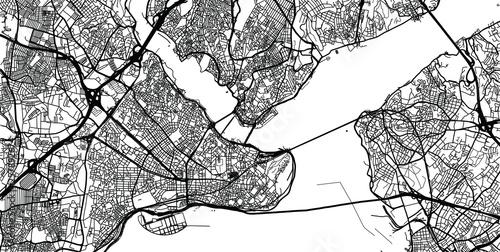 Fotografie, Obraz Urban vector city map of Istanbul, Turkey
