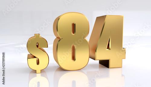 Fotografia  84 dollar price symbol