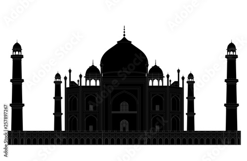 Photo Taj Mahal Silhouette