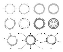 Abstract Techno Circle. Vector...