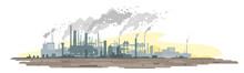 Industrial Plant Landscape Wit...