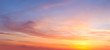 canvas print picture - Majestic real sunrise sundown sky background with gentle colorful clouds
