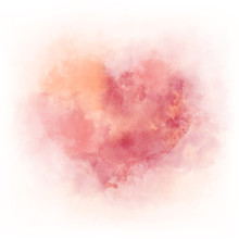 Gentle Pink Watercolor Heart -...