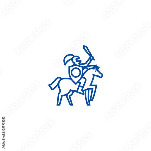 Cuadros en Lienzo Knight line concept icon