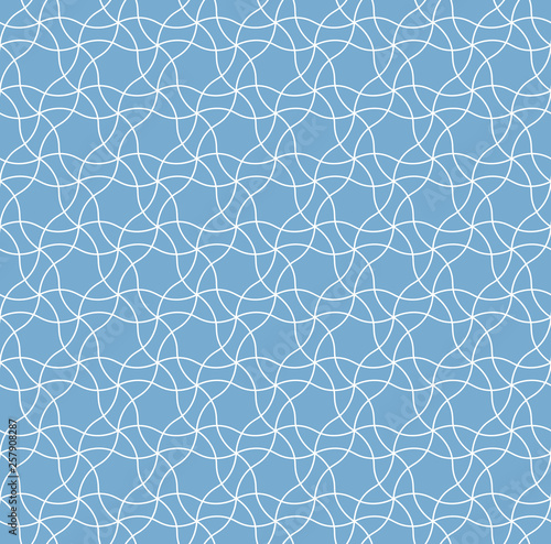 Vector seamless pattern, geometric ornament for textile print Canvas Print