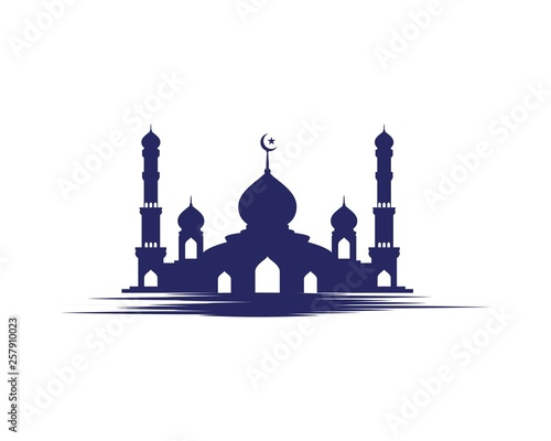Fotografia Mosque Moslem icon vector Illustration