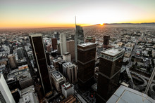 USA, California, Los Angeles, Cityscape At Twilight