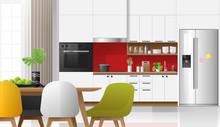 Modern Colorful Kitchen Interi...