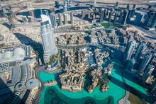 UAE, Dubai, The Dubai Fountain From Above
