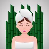 Fototapeta Sypialnia - woman with towel spa