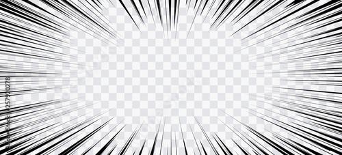 Pinturas sobre lienzo  Comic book action lines. Speed lines Manga frame