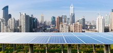 Solar Panels And Urban Constru...