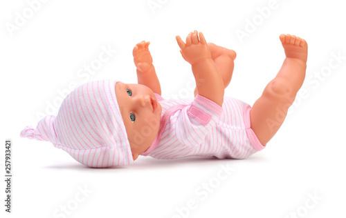 Obraz na plátne Baby doll toy on white background.