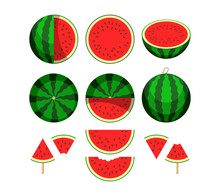Watermelon. Whole Fruit And Fr...