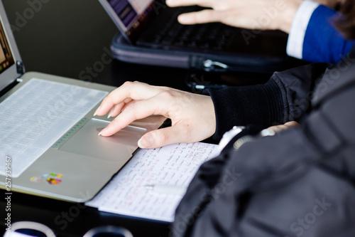 Foto  Etudiant révisant avant ses examen