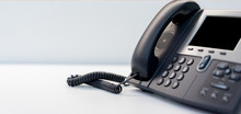 Close Up Telephone Landline At...
