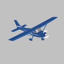 Small Plane Vector Illustration. Single Engine Propelled Aircraft. Vector Illustration.