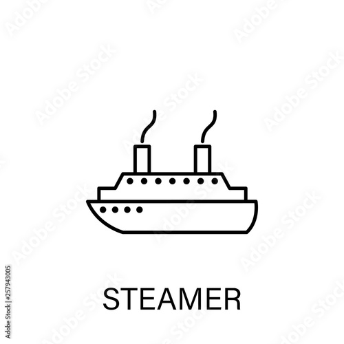 Photo steamer ship sea transport outline icon