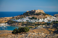 View Of Lindos Acropolis With ...