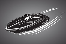 Speedboat Isolated Vector Illu...