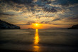 Matala farbenfroher Sonnenuntergang