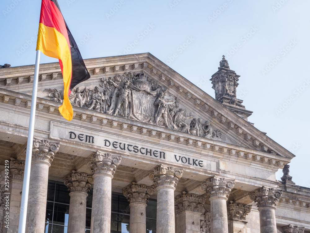 Fototapety, obrazy: germany berlin reichstag building german parliament bundestag