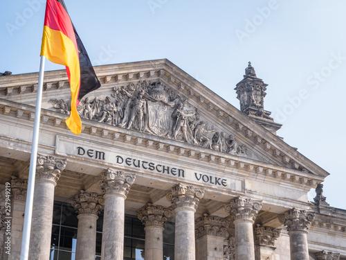 Fotografía  germany berlin reichstag building german parliament bundestag