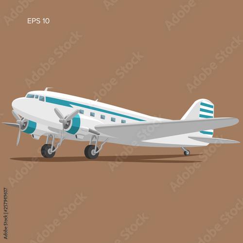 Photo  Old vintage piston engine airliner